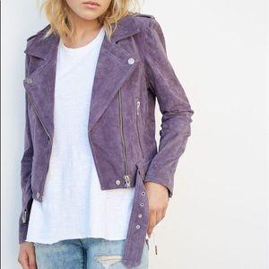 BlankNYC Purple Haze Suede Moto Jacket